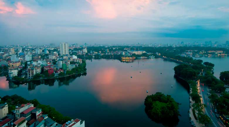 HAN Airport is located about 40 km away from Hanoi city centre.